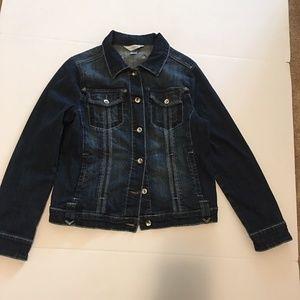 Christopher & Banks Medium Blue Jean Denim Jacket
